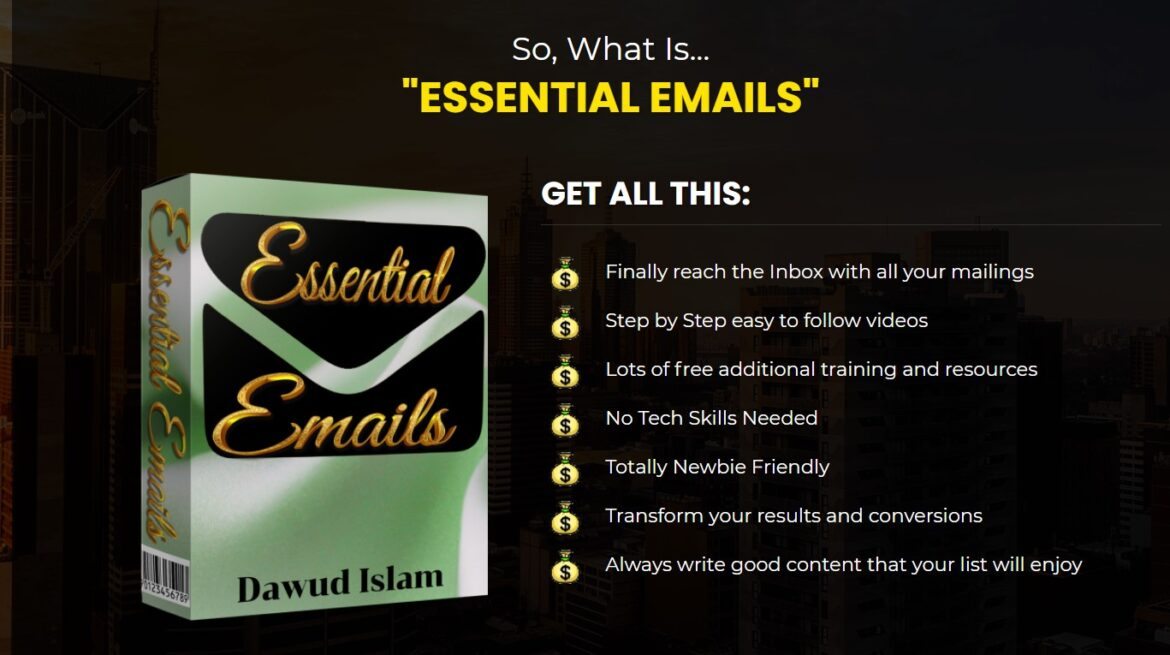 ESSENTIAL EMAILS review demo ♠️Stop♠️Check my $4235 ESSENTIAL EMAILS review